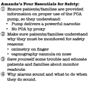 Brian and Cindy Abbhiel share Amanda's four essentials for safety.