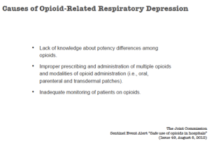 Michael Wong shares the causes of opioid induced respiratory depression.