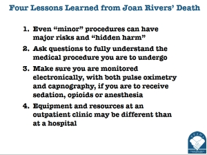 Four Lessons Learned from Joan Rivers Death